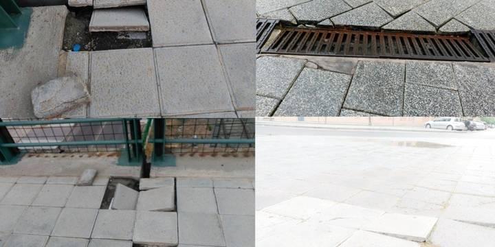 Colección de desperfectos en las calles denunciados por IU-Ahora Azuqueca
