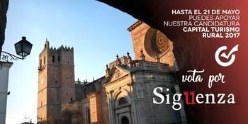 Últimos días para votar por Sigüenza como Capital del Turismo Rural 2017