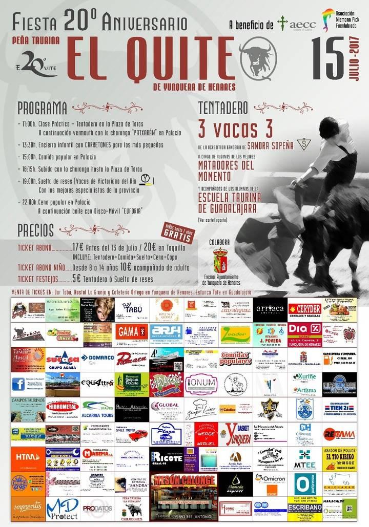 La Peña Taurina 'El Quite' de Yunquera de Henares celebra sus 20 años