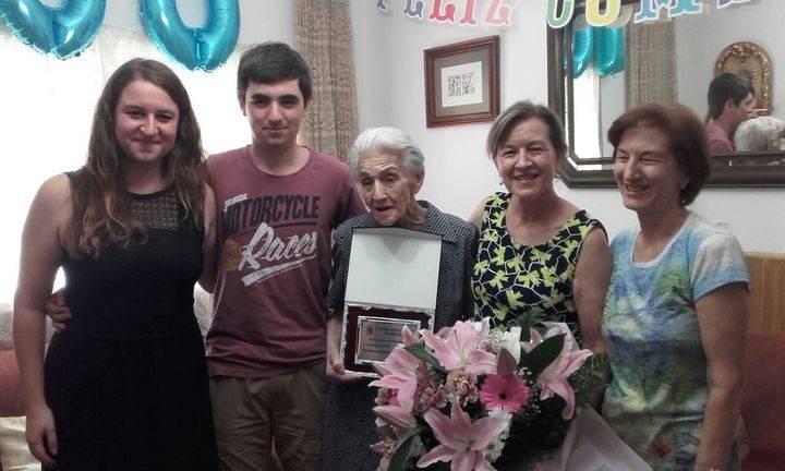 Francisca de Francisco llegó a su centenario llena aún de ilusión por vivir en Sigüenza