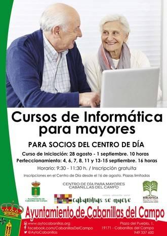 Cabanillas organiza dos cursos de informática para personas mayores