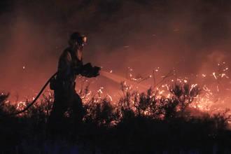 Así cuenta la Policía Local de Guadalajara el incendio de la parte trasera del Club de Campo del Casino