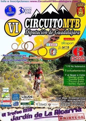 El domingo 6, VI Trofeo MTB Jardín de la Alcarria en Brihuega, sexta prueba del Circuito Diputación de Guadalajara