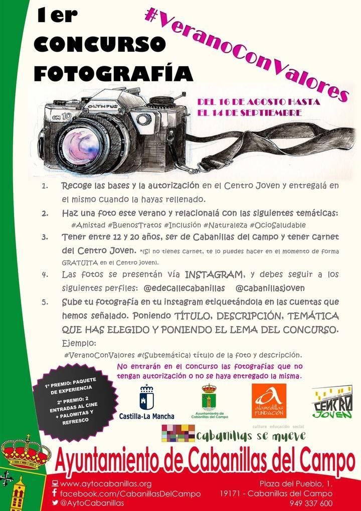 """""""Verano con Valores"""": Un concurso de fotografía en Cabanillas para potenciar lo mejor de la Juventud"""