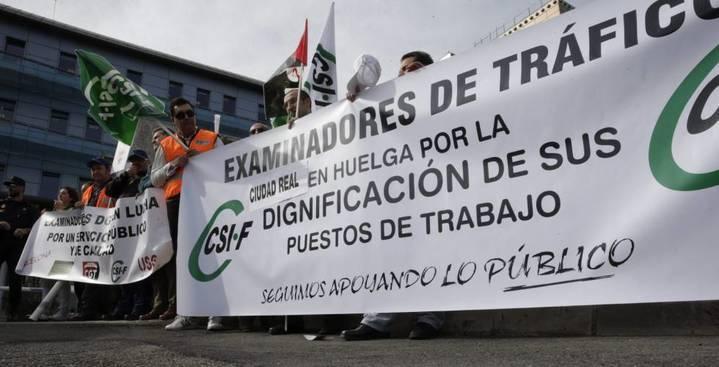 CSIF apoya la huelga convocada a partir de este lunes por los examinadores de tráfico