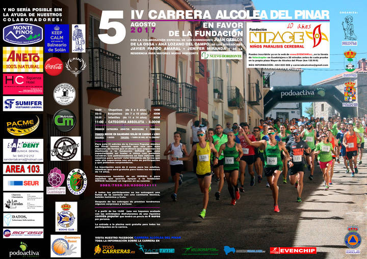 Alcolea del Pinar acoge el 5 de agosto la IV Carrera a favor de Nipace