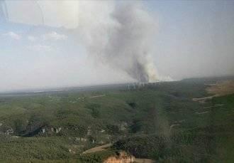 Se declara un incendio en Campillo de Altobuey, en la provincia de Cuenca