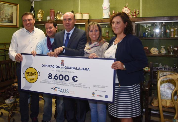 La Paella Solidaria de Diputación logra recaudar 8.600 euros para AFAUS Pro Salud Mental