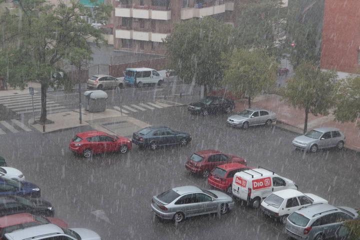Granizada este martes por la tarde en Guadalajara : el 112 gestiona 21 incidencias este lunes por las tormentas