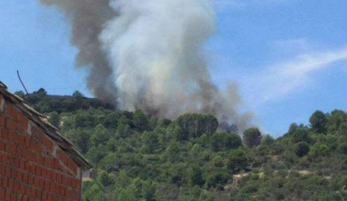 Ocho medios y 30 personas trabajan en la extinción de un incendio en Sacedón, que ya está controlado