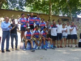 José Manuel Latre asiste a la entrega de los trofeos del MTB Jardín de la Alcarria, en Brihuega