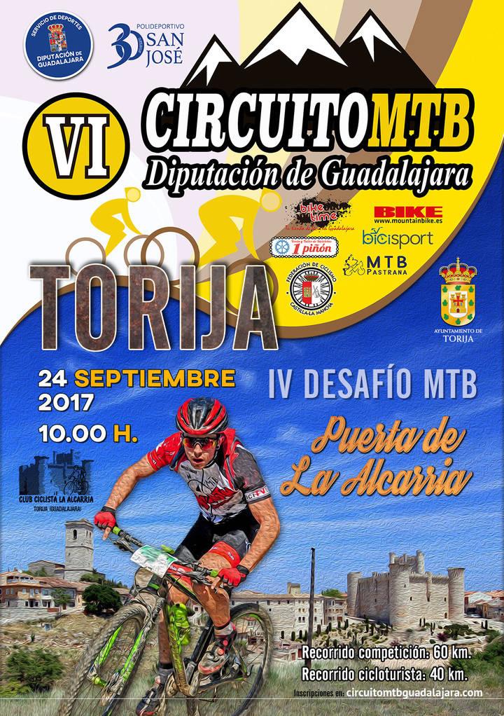 Este domingo se celebra el IV Desafío MTB de Torija, octava prueba del Circuito Diputación