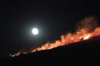 Román reconoce y agradece el trabajo realizado por los equipos de extinción del incendio del Casino de Campo de Guadalajara