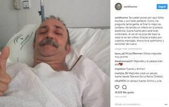 El actor Santi Rodríguez, ingresado tras un infarto