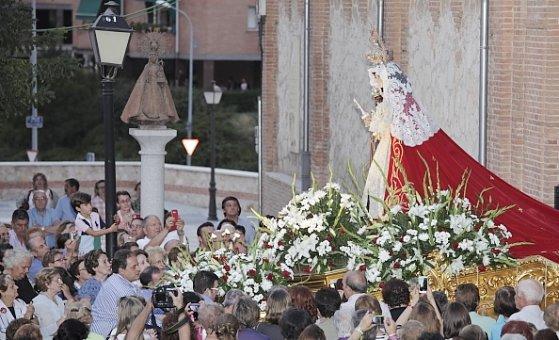 Procesión y traslado de Nuestra Sra. de la Antigua en Guadalajara
