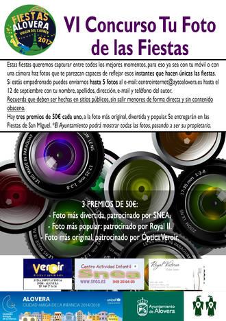 El Ayuntamiento de Alovera convoca el VI Concurso 'Tu foto de las fiestas'