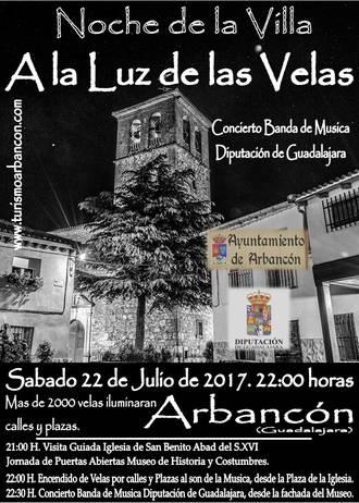 Más de 2.000 velas iluminarán las calles y plazas de Arbancón este sábado