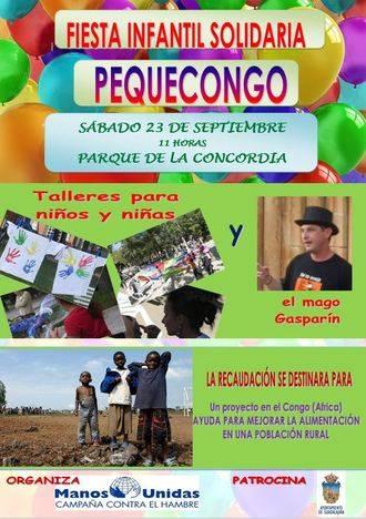 Manos Unidas vuelve a organizar este año su fiesta infantil solidaria 'Pequecongo'