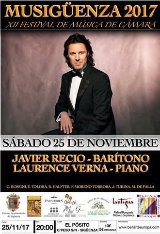 Este sábado en Sigüenza, concierto de Javier Recio y Laurence Verna