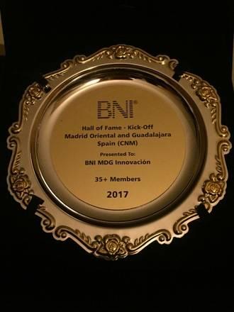 Los empresarios del grupo BNI Innovación de Guadalajara son premiados en EE.UU