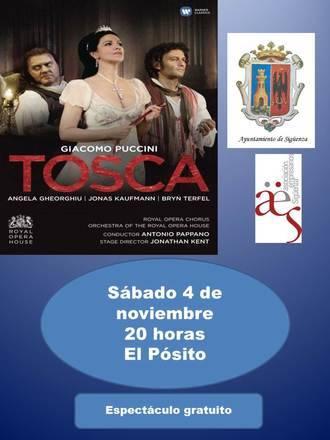 Vive la Opera en Sigüenza proyectará en noviembre 'Tosca', de Puccini