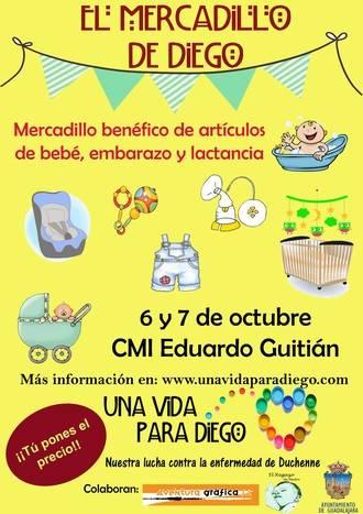 Mercadillo solidario en el CMI por Diego, el único enfermo de Duchenne en Guadalajara