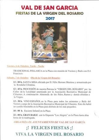 El Val de San García celebra la Virgen del Rosario