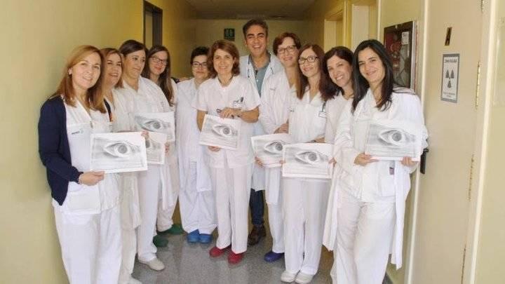 Premian al equipo de Enfermería del Hospital de Alcázar por un estudio de curvatura corneal