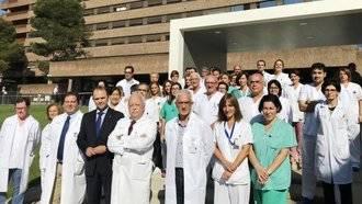 Espectacular éxito quirúrgico en el primer trasplante con donante vivo en Castilla La Mancha entre un niño y su madre
