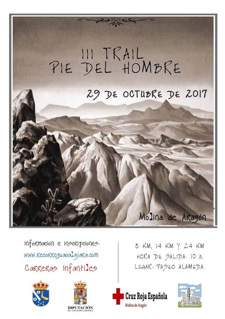 El domingo 29 , III Trail Pie del Hombre en Molina, última prueba del Circuito de Carreras Montaña que organiza Diputación