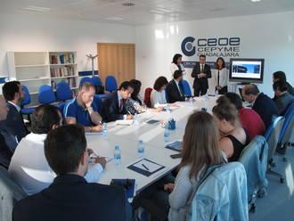 CEOE-CEPYME y CaixaBank analizan el 'factoring' internacional con empresarios de Guadalajara