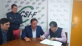 AECC y CSIF unen sus fuerzas en la lucha contra el cáncer en Guadalajara