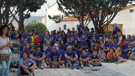 """Rotundo éxito de la reivindicativa """"Marcha Violeta"""" nacida en Cabanillas del Campo"""