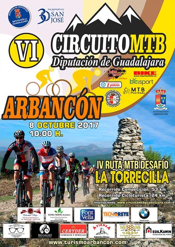 El domingo 8, IV Ruta MTB Desafío La Torrecilla en Arbancón