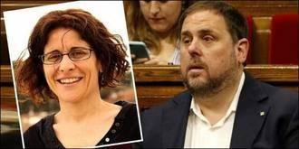 La mujer de Oriol Junqueras pide la baja