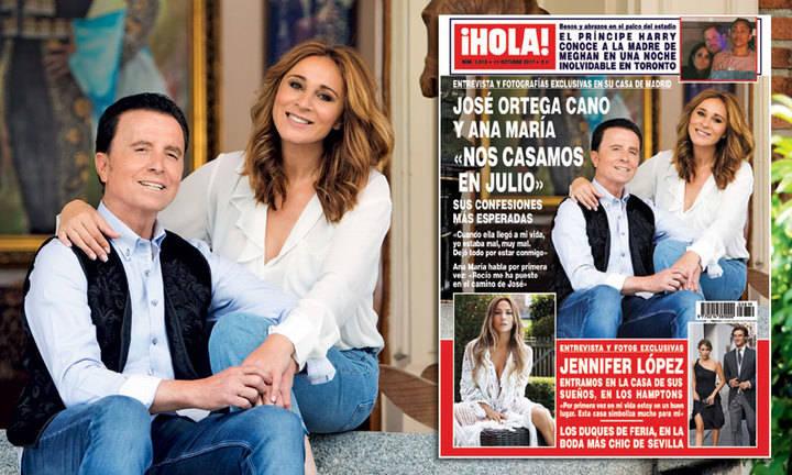 ¡HOLA! Ortega Cano y Ana Mª : 'Nos casamos en julio'
