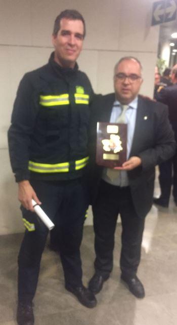 El Consorcio de Bomberos de la Diputación es reconocido por su actuación en el incendio de Chiloeches del verano pasado