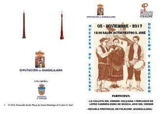 Muestra de dulzaina y percusión de la Escuela de Folklore de Guadalajara y la Colleta del Verger