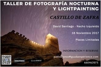 El Castillo de Zafra, escenario de un taller de fotografía nocturna y lightpainting