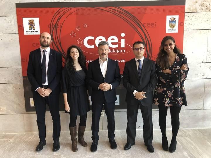 El 'jefe' de los CEEIs europeos, Javier Echarri, visita el CEEI de Guadalajara
