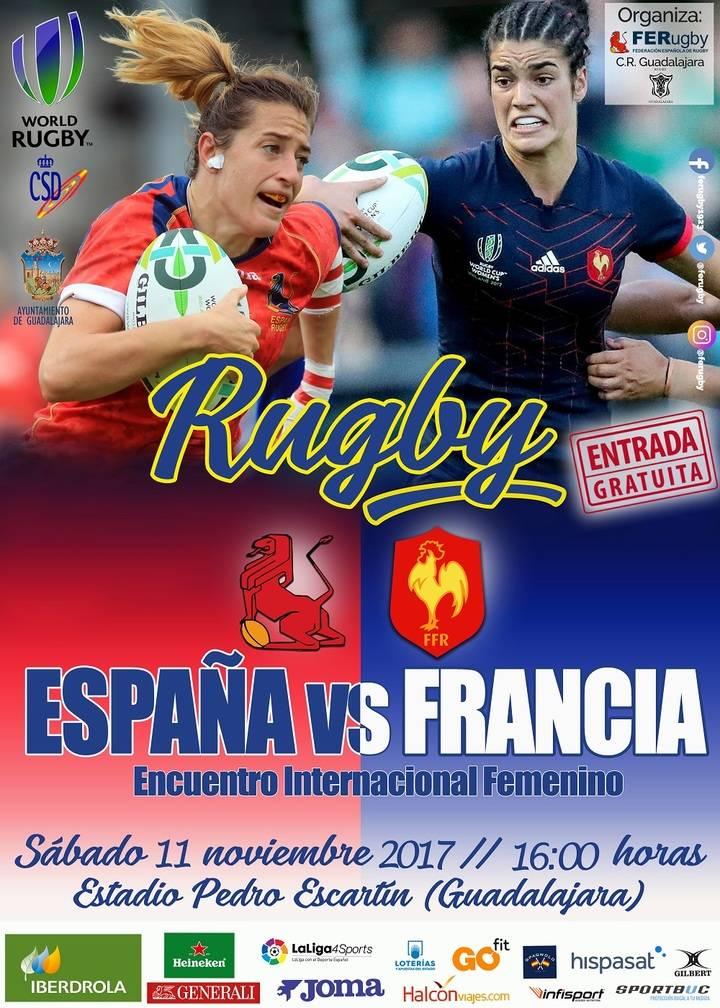 El sábado en el Escartín, amistoso entre las Selecciones Femeninas de Rugby de España y Francia