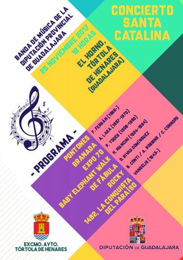 La Banda de la Diputación ofrecerá un Concierto de Santa Catalina en Tórtola de Henares