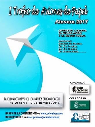Alovera acogerá su I Trofeo de Aviones de Papel el próximo 2 de diciembre