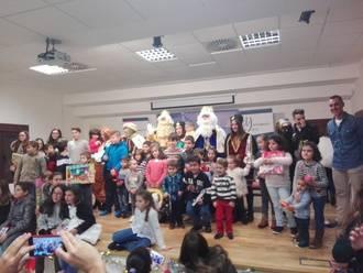 La visita de Sus Majestades de Oriente cerró el programa navideño en Yebra