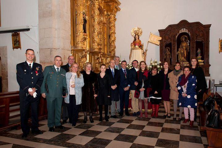 El subdelegado el Gobierno en Guadalajara participa de la festividad de la Virgen de la Paz en la localidad de Alovera