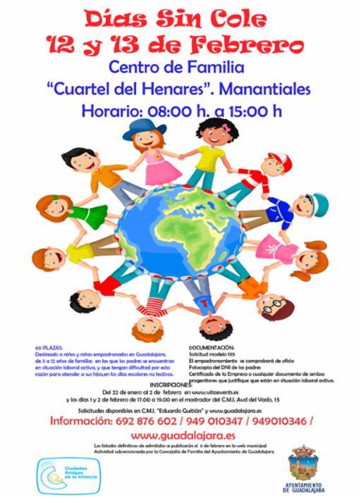 """La Concejalía de Familia pone nuevamente en marcha el programa de conciliación familiar y laboral """"Días sin Cole"""""""