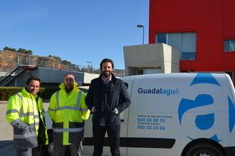 Guadalagua acoge las prácticas de los alumnos del curso 'Montaje y mantenimiento de redes de agua'