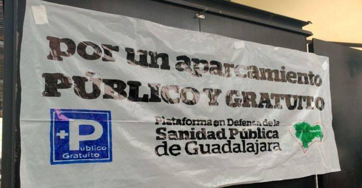 Exigen la apertura del nuevo aparcamiento del Hospital de Guadalajara y que su segundo acceso o salida sea de doble sentido