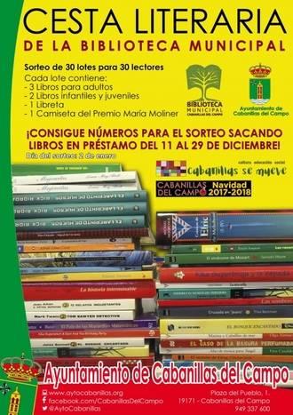 La Biblioteca de Cabanillas lanza la Cesta Literaria de Navidad, un sorteo de regalos entre usuarios