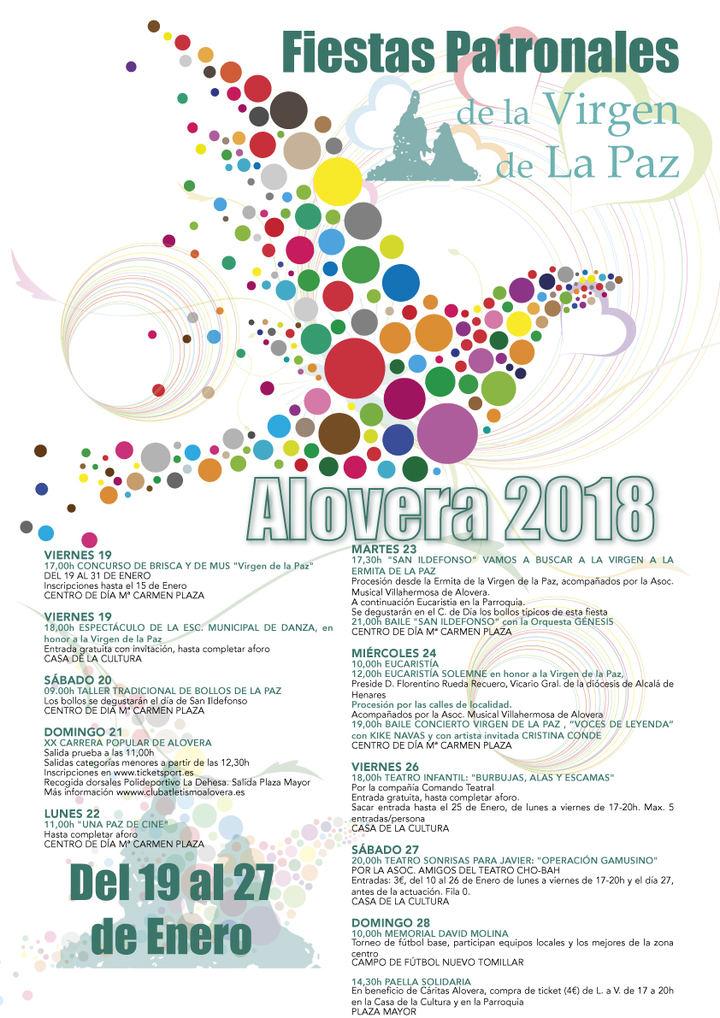 Alovera celebrará las fiestas de la Virgen de la Paz del 19 al 28 de enero